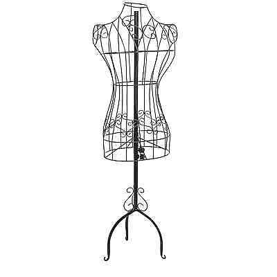 Display Stand Dress Form Mannequin Female Torso Metal Wire Vintage Body Clothing
