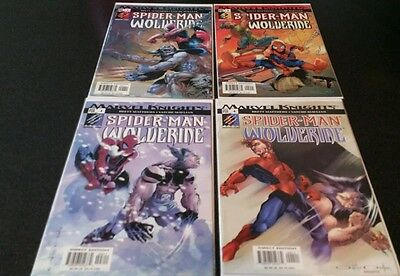 SPIDERMAN WOLVERINE (2003-MARVEL KNIGHTS) # 1, 2, 3, 4 BY BRETT MATTHEWS