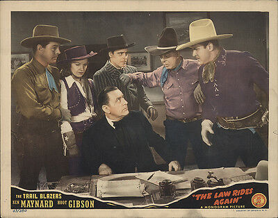 The Law Rides Again 1943 Original Movie Poster Western