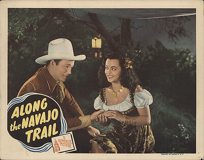 Along the Navajo Trail 1945 Original Movie Poster Romance Western