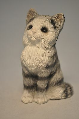 Stone Critters - Grey Kitten - Miniature - SCL-17