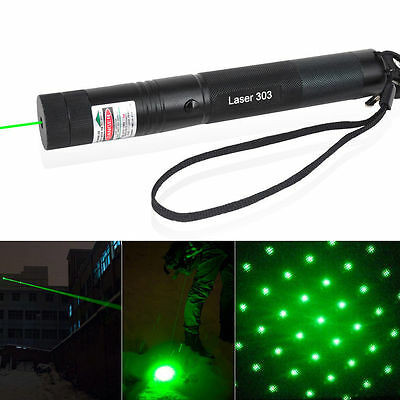 303 Green Laser Pointer Pen Focus Adjustable 532nm Burning Beam Star Laser Pen