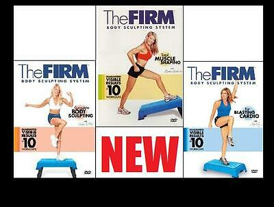 NEW The Firm BODY SCULPTING SYSTEM 3-DVD Workout + FREE Health & Fitness Bonuses