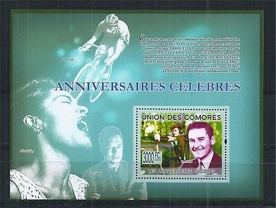 Comores Komoren 2009 Block ** Errol Flynn Albert Camus Holiday Fausto Coppi