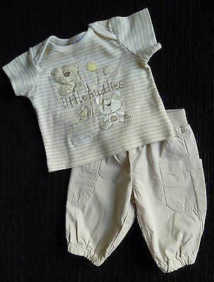 Baby clothes BOY 0-3m outfit Benetton cotton trousers/Bebe Cool animals T-shirt
