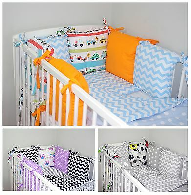 NEW 10 PCS BABY BEDDING SET FOR COT / COTBED with PILLOW BUMPER NEWEST DESIGNS