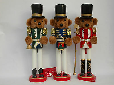 "Teddy Bear  Nutcracker Soldier Decoration 15"" Tall Choice Of Design"