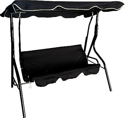 Swinging Hammock 3 Seater Swing Bench Chair Seat Cushion Lounger Outdoor Garden