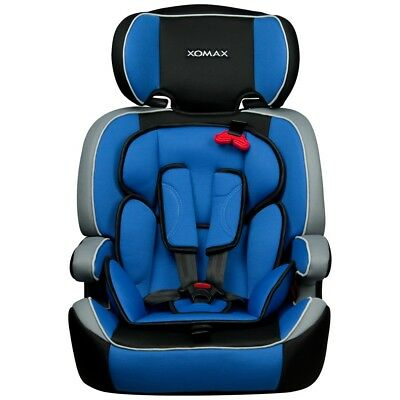 CONVERTIBLE BABY CHILD CAR SEAT & BOOSTER GROUP 1/2/3 9-36 kg BLUE BLACK GREY