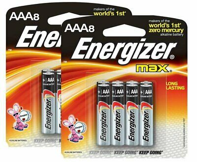 Energizer E92MP-Energizer Max AAA Batteries (16-Pack), Black
