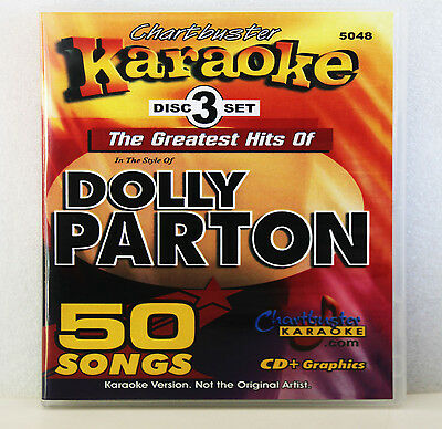 Karaoke CD+G Chartbuster 5048 Dolly Parton Greatest Hits Set Includes Song List