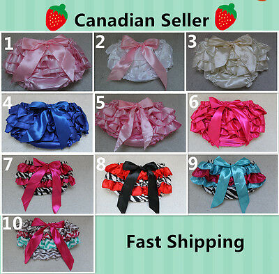 NEW!! 10 Colors Baby Toddler Clothing Satin Ruffle Diaper Cover Bloomer Shorts