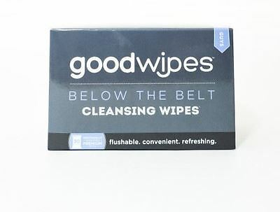 Good Wipes Guys Below The Belt Cleansing Wipes 30ct. Flushable NIB