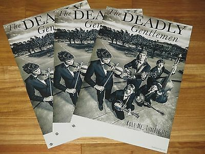 THE DEADLY GENTLEMEN   11 x 17 collectible promotional POSTER LOT OF 3     P557