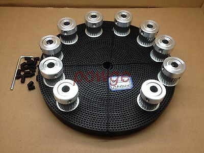24Teeth HTD 3M Pulley Bore 6mm + 3M Timing Belt Width=15mm CNC Laser Engraving
