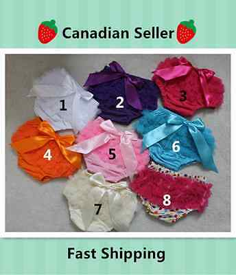NEW! 8 Colors Baby Toddler Girl Cotton Lace Ruffle Bloomer Diaper Cover  Panties
