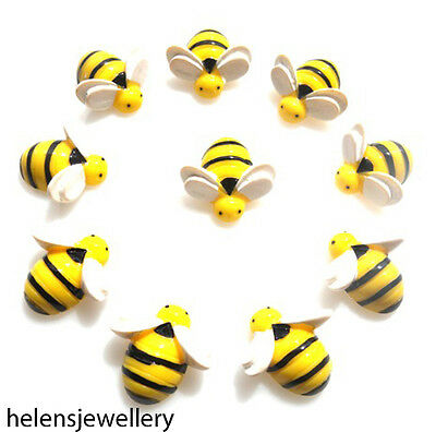 10 Cute 3D Bumble Bees Flatback Cabochons Kawaii Decoden With Free Fast Shipping