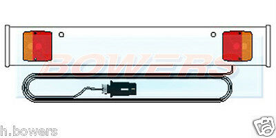 3Ft Foot White Car Trailer/Bike/Cycle/Rack/Carrier Light Lighting Board 4M Cable