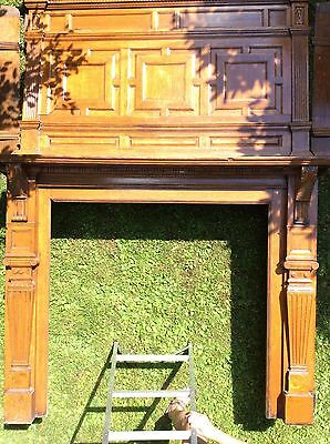 Antique Oak Fireplace Mantles Pocket Doors Pier Mirror Will Sell Separately