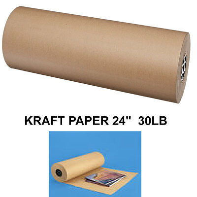 """24"""" 30 lbs  Brown Kraft Paper Roll Shipping Wrapping Cushioning Void Fill 1700SF"""