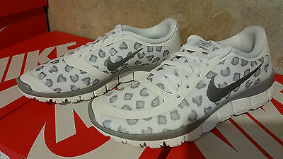 c8cff19fb784 Womens NIKE FREE 5.0 V4 Leopard Sneakers Shoes Cheetah White Gray NEW ALL  SIZES