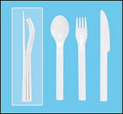 TUPPERWARE NEW 3 Pc On-the-Go CUTLERY Set FORK SPOON KNIFE