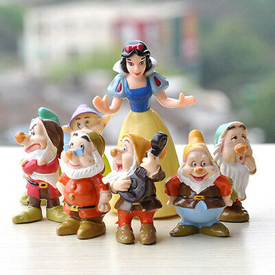 Snow White and the Seven Dwarfs PVC Figures Toys For kids 8PCS set Collection