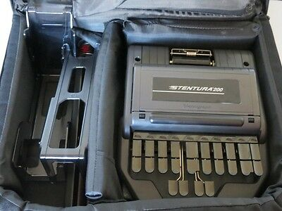 Stenograph STENTURA 200 Court Reporting Dictation With Bag Tripod & MoRe
