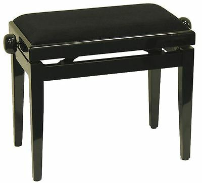 Piano stool + Piano bench + Piano Bench + black + NEW