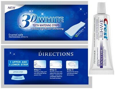 28 Professional Advanced Teeth Whitening Strips & Free 3D Whitening Toothpaste