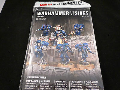 White Dwarf Warhammer Visions Issue 18 July 2015 - Inc Space Marines (Sealed)