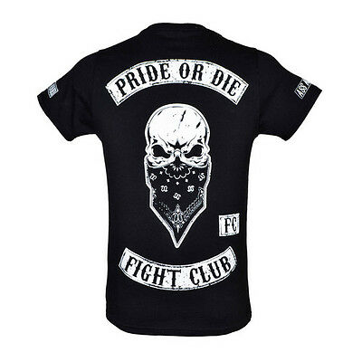 Venum Mens Pride Or Die Fight Club T Shirt MMA Clothing Mix Martial Arts Top Tee