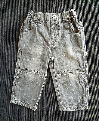 Baby clothes BOY 3-6m George grey denim jeans 2nd item post-free! SEE MY SHOP!