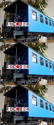 3, Three G Scale Railway Passenger 45Mm Gauge Carriage Blue Garden Coach Train