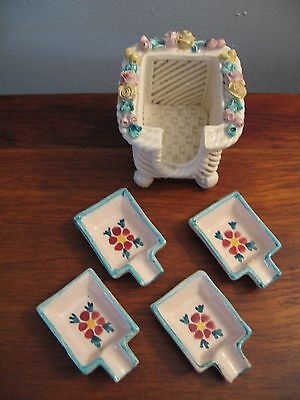 Vintage Individual Ash Trays Set of 4  Made in Italy