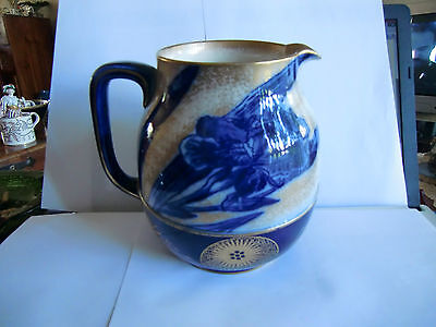 Doulton Burslem Flow Blue and Gilt Jug Circa 1900