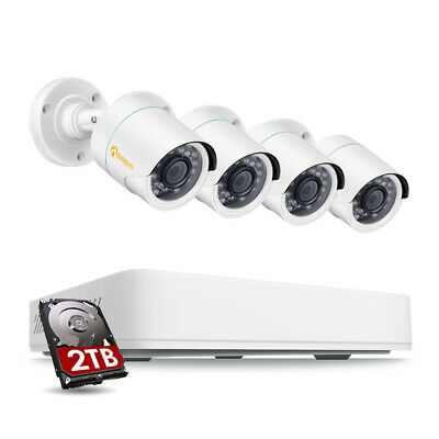 8CH 1080p HDMI DVR 2MP Outdoor IR-Cut Home Security Camera System 1TB Hard Drive