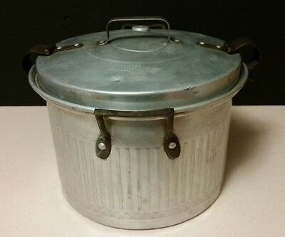 THE DELUXE COOKER PURE ALUMINUM VINTAGE STEAMER - COOKER, MADE IN USA,