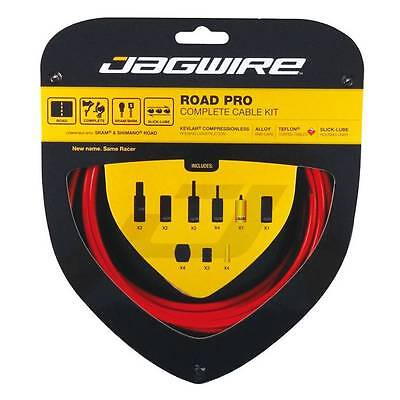 Jagwire ROAD PRO Complete Cable Kit Bike Brake & Derailleur Cables + Housing RED