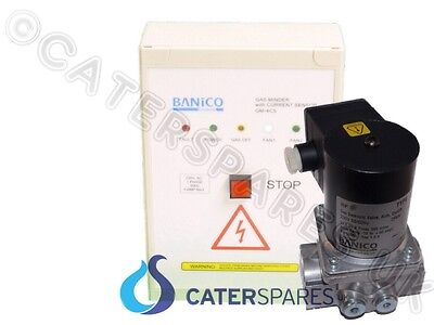 "Current Sensor Commercial Gas Interlock Kit & 1.1/2"" (42Mm) Gas Solenoid Valve"