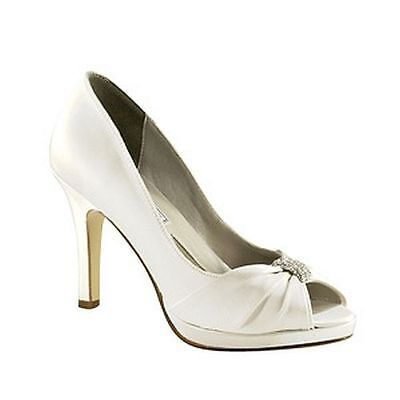 Liz Rene Jacqueline Dyeable Wedding Shoes, Size 6.5M