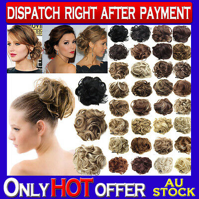 Brand New Hair Scrunchies Curly Hair Bun Hair Piece Extension Formal Up Style