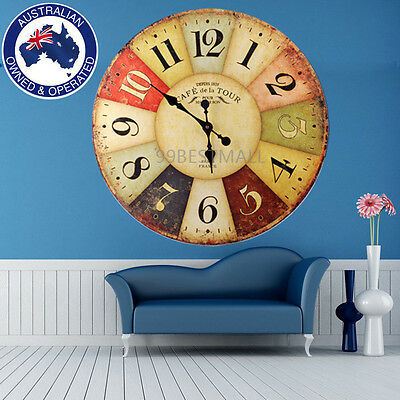 Cool Large Round Industrial 60cm Grand Hotel Wall Clock Time  New