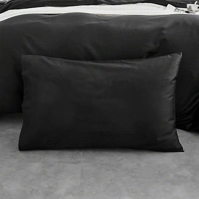 NEW Superior Quality 650TC 100% cotton Plain Black Pillow Case Pillow slip