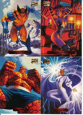 Cards 81 to 140 - 1994 Marvel Masterpieces Card Set!
