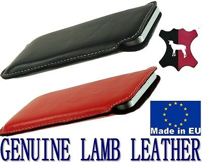 Pocket Case  Cover Genuine Lamb Leather Sleeve For Samsung Galaxy S6 S6 Edge S5