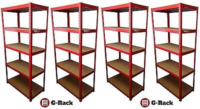 4 Bay Heavy Duty Garage, Shed, 5 Tier Shelving Racking, Free Delivery - 265KG