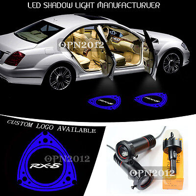 2x For Mazda RX-8 Logo Shadow Car Door Open LED Projector Step Welcome Light 12V