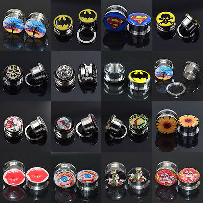 Ear Tunnel Plugs Ear Gauges Expander Stretching Earlets Stainless Steel Piercing