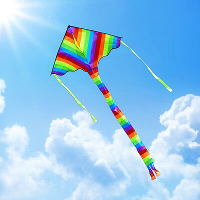 Color Triangle Kite Outdoor Fun Sports for Children Toys Fly Dual line stunt New